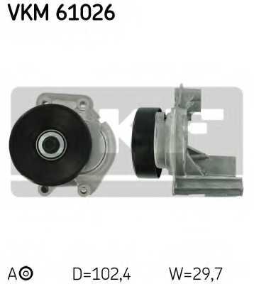 Натяжной ролик поликлиновогоременя SKF VKM61026 - изображение