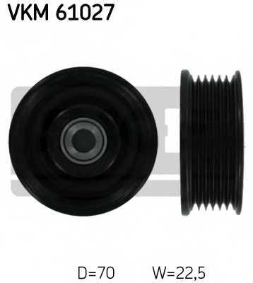 Паразитный / ведущий ролик поликлинового ременя SKF VKM 61027 - изображение