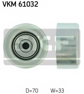 Паразитный / ведущий ролик поликлинового ременя SKF VKM 61032 - изображение