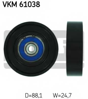 Паразитный / ведущий ролик поликлинового ременя SKF VKM 61038 - изображение