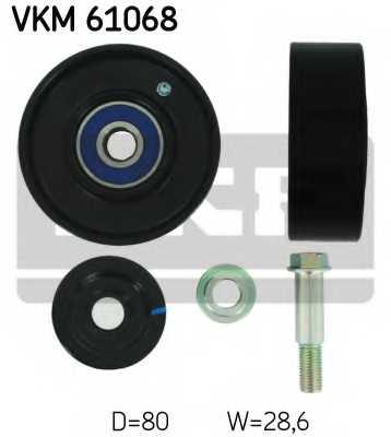 Паразитный / ведущий ролик поликлинового ременя SKF VKM 61068 - изображение