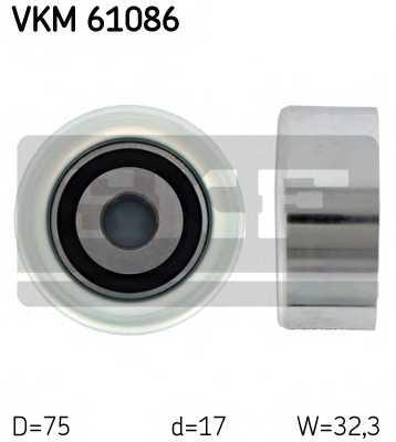 Паразитный / ведущий ролик поликлинового ременя SKF VKM 61086 - изображение