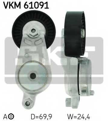 Натяжной ролик поликлиновогоременя SKF VKM 61091 - изображение