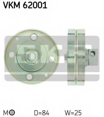 Натяжной ролик поликлиновогоременя SKF VKM 62001 - изображение