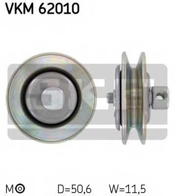 Натяжной ролик, клиновой ремень SKF VKM 62010 - изображение