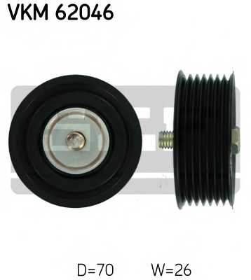 Паразитный / ведущий ролик поликлинового ременя SKF VKM 62046 - изображение