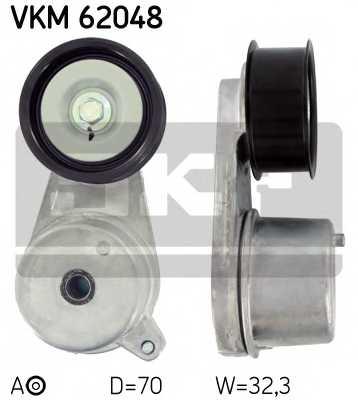 Натяжной ролик поликлиновогоременя SKF VKM 62048 - изображение