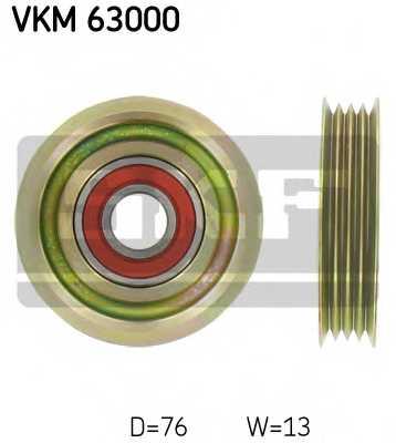 Паразитный / ведущий ролик поликлинового ременя SKF VKM 63000 - изображение