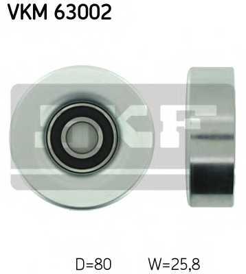 Паразитный / ведущий ролик поликлинового ременя SKF VKM 63002 - изображение