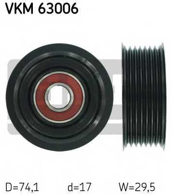 Паразитный / ведущий ролик поликлинового ременя SKF VKM 63006 - изображение