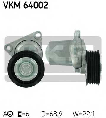 Натяжной ролик поликлиновогоременя SKF VKM 64002 - изображение