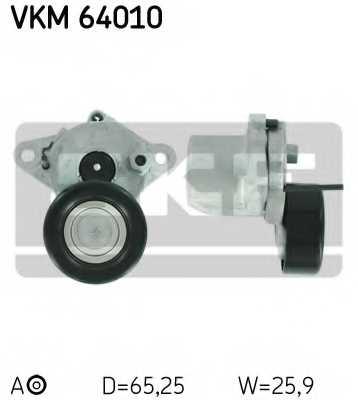 Натяжной ролик поликлиновогоременя SKF VKM 64010 - изображение