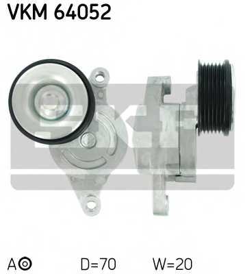 Натяжной ролик поликлиновогоременя SKF VKM 64052 - изображение