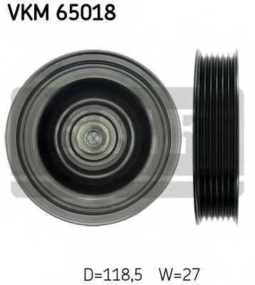 Паразитный / ведущий ролик поликлинового ременя SKF VKM 65018 - изображение