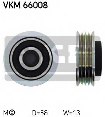 Натяжной ролик поликлиновогоременя SKF VKM66008 - изображение