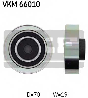 Паразитный / ведущий ролик поликлинового ременя SKF VKM66010 - изображение