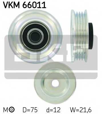 Натяжной ролик поликлиновогоременя SKF VKM 66011 - изображение