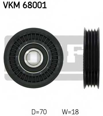 Паразитный / ведущий ролик поликлинового ременя SKF VKM 68001 - изображение