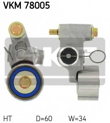Натяжной ролик ременя ГРМ SKF VKM 78005 - изображение