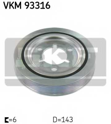 Ременный шкив коленвала SKF VKM93316 - изображение