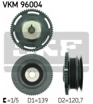 Ременный шкив коленвала SKF VKM 96004 - изображение