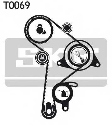 Комплект ремня ГРМ SKF VKMA 01016 - изображение