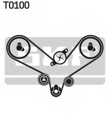 Комплект ремня ГРМ SKF VKMA 01200 - изображение