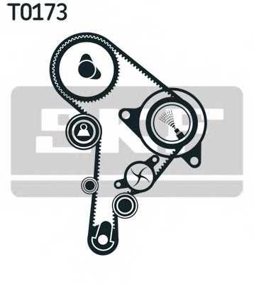 Комплект ремня ГРМ SKF VKMA 01244 - изображение 1