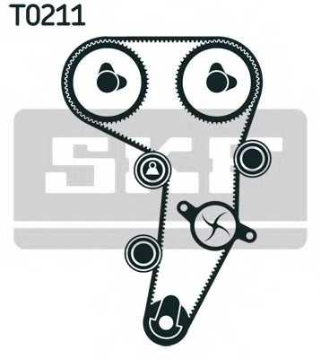 Комплект ремня ГРМ SKF VKMA 01255 - изображение