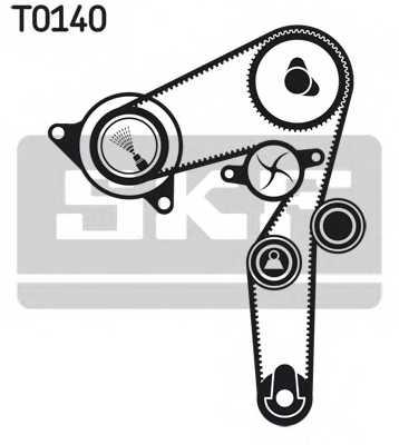 Комплект ремня ГРМ SKF VKMA 02176 - изображение