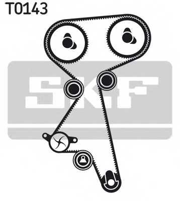 Комплект ремня ГРМ SKF VKMA 02184 - изображение