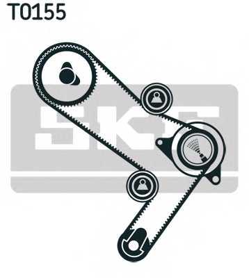 Комплект ремня ГРМ SKF VKMA 02986 - изображение