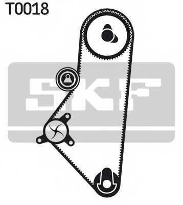 Комплект ремня ГРМ SKF VKMA 03201 - изображение 1