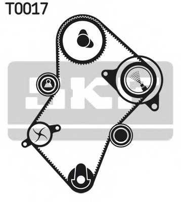 Комплект ремня ГРМ SKF VKMA 03244 - изображение