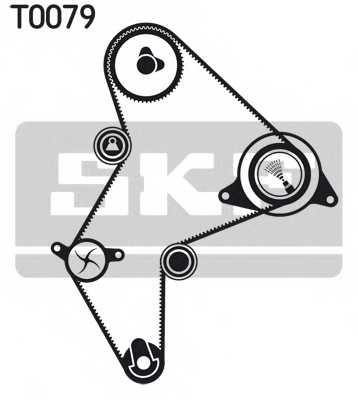Комплект ремня ГРМ SKF VKMA 03251 - изображение