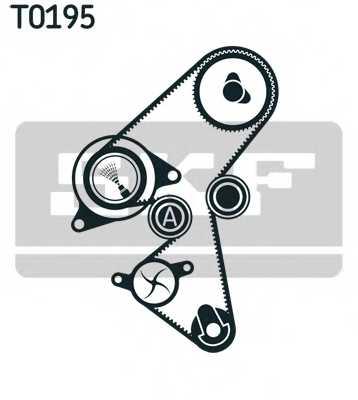 Комплект ремня ГРМ SKF VKMA 03316 - изображение