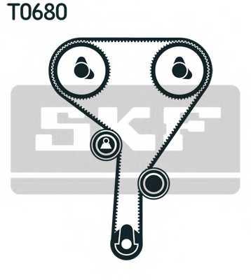 Комплект ремня ГРМ SKF VKMA 05260 - изображение