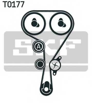 Комплект ремня ГРМ SKF VKMA 06106 - изображение