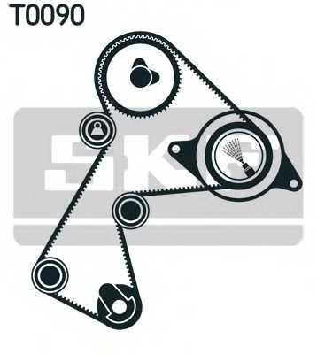 Комплект ремня ГРМ SKF VKMA 06126 - изображение