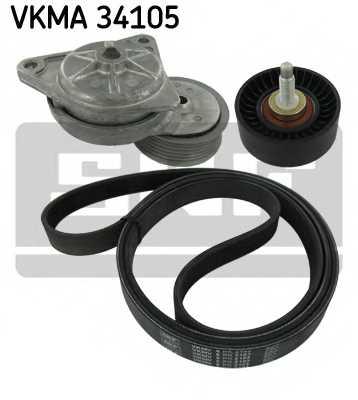 Поликлиновой ременный комплект SKF VKMA 34105 - изображение