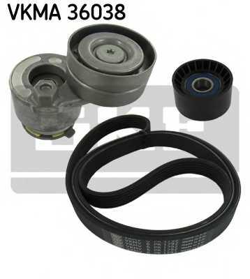 Поликлиновой ременный комплект SKF VKMA 36038 - изображение