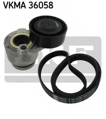 Поликлиновой ременный комплект SKF VKMA36058 - изображение