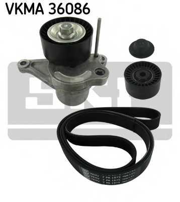 Поликлиновой ременный комплект SKF VKMA 36086 - изображение