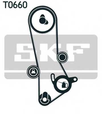Комплект ремня ГРМ SKF VKMA 91201 - изображение