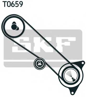 Комплект ремня ГРМ SKF VKMA 91708 - изображение