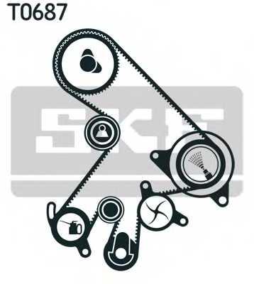 Комплект ремня ГРМ SKF VKMA 91903 - изображение 1