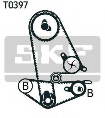 Комплект ремня ГРМ SKF VKMA 93011 - изображение