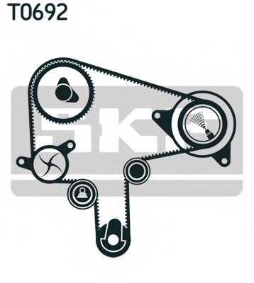 Комплект ремня ГРМ SKF VKMA 94619 - изображение