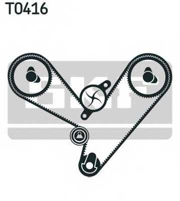 Комплект ремня ГРМ SKF VKMA 95003 - изображение