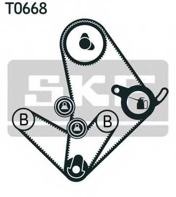 Комплект ремня ГРМ SKF VKMA95010 - изображение 1